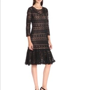 Women's Three-Quarter Sleeve Lace Dress